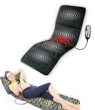 Electric Vibration Heat Massager Whole Body Mattress Massage Chair Velvet Cover