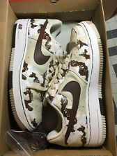 Authentic Nike Air Force 1 Premium  Birch Chocolate Bone White Desert Camo 8