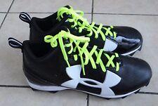 UNDER ARMOUR Men's black/red/blue Fierce Phantom Football Cleats/ shoes,9.5-14