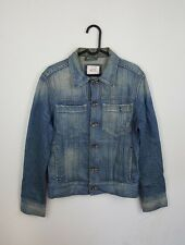 VTG JACK AND JONES URBAN RENEWAL TRUCKER DISTRESSED OVERSIZED DENIM JACKET UK S