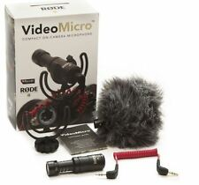 New Rode Videomicro Canon Nikon DSLR Camera interview Directional Microphone