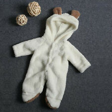 UK Newborn Infant Baby Boy Girl Romper Hooded Jumpsuit Bodysuit Clothes Outfits