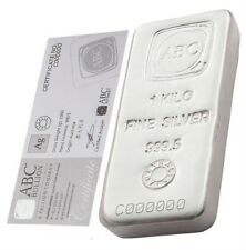 ABC Refinery 1 kg kilo .9995 Silver Bullion Bar (with Certificate)