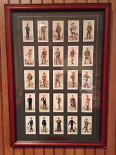 ORIGINAL Player's Cigarette Cards British Territorial Army 1939 Framed