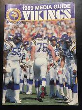 vintage Minnesota Vikings football 1989 Media Guide NFL sports book