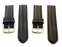 Mens Genuine EEL Leather Skin Watch Strap Band SS Buckle and Spring Bars - AM