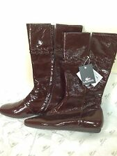 Lacoste TEAGAN GLOSS Ladies Boots, New, Brown, Size UK 4 / EU 37.