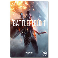 Battlefield BF 1 4 Military War Game Art Silk Poster 24x36inch
