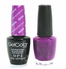 Opi Soak-Off GelColor Gel Polish + Nail Polish Neon Push & Pur-Pull GC-N37