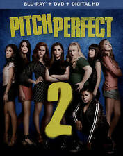 Pitch Perfect 2 (Blu-ray/DVD+ digital hd)free shipping.NEW SEALED.Slip COVER