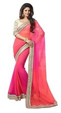 Indian Bollywood 2D SAREE Designer Party/Wedding Wear Ethnic Fancy Saree/Sari