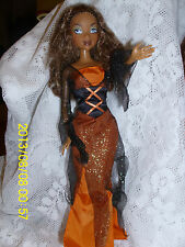 """MATTEL MY SCENE DOLL """"MADISON/WESTLEY"""" WITCH BROWN/BLACK OUTFIT HANDMADE BOOTS"""