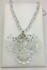 VINTAGE MIRIAM HASKELL NECKLACE! FACETED CLEAR BEAD! EXTRA LONG! MUST SEE! WOW!