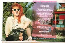 CYNDI LAUPER Money Changes Everything lyri magazine PHOTO / clipping 8x6 inches