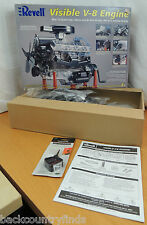 Revell Visible V-8 Engine Plastic Model Kit 1:4 Scale 3+ Ages 12 +