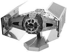 Darth Vader's Tie Fighter: Metal Tierra 3D Láser Cortar Star Wars Miniature Modelo Kit