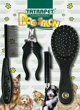 Dog Cat Care Set Sided Wooden Brush Rubber Brush Comb Tweezers for Ticks