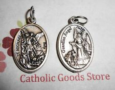 St Michael the Archangel - Guardian Angel - Italian Silver-tone OX 1 inch Medal
