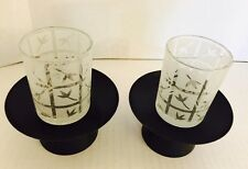 Partylite Bamboo Lantern Votive Holder Pair P7695