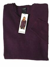 NWT MAGASCHONI 100% CASHMERE LAVANDA MOULINE LADIES SZ M SWEATER