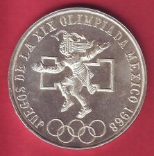 R* MEXICO 25 PESOS SILVER 1968 OLYMPIC GAMES UNC DETAILS