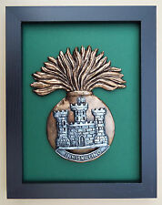 Large Scale Framed Royal Inniskilling Fusiliers Badge Plaque