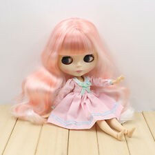 """12"""" Nude Blythe Doll from Factory white & pink long hair azone body new sale hot"""