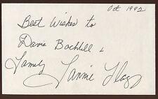Fannie Flagg Signed Index Card Signature Vintage Autograph AUTO