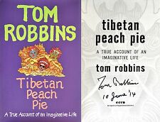 Tom Robbins~SIGNED & DATED~Tibetan Peach Pie~1st/1st HC~Photos++