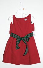 Ralph Lauren Infant Girls Raspberry Pink Corduroy 2pc Dress Set, Size 12M