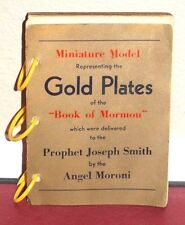1947 Miniature Model of the Gold Plates of the Book of Mormon LDS Rare Vintage