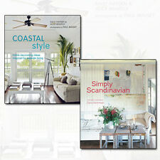 Home Decorating Ideas Collection Coastal Style, Simply Scandinavian 2 Books Set