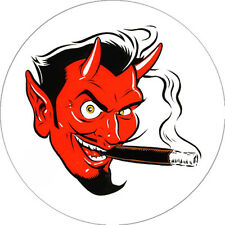 CHAPA/BADGE DEVIL HEAD . pin button coop gearhead big daddy roth juxtapoz art