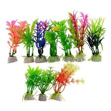 10tlg Wasserpflanzen Künstliche Aquarien Pflanzen Pflanze Set Deko Fisch Tank