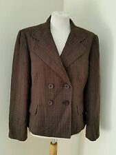 NEXT SIZE 16 BROWN STRIPE TAILORED SUIT JACKET / BLAZER EXCELLENT CONDITION