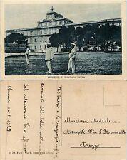 Livorno, R. Accademia navale, animata con marinai in primo piano 1929