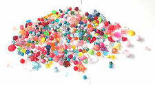 Mixed Plastic Beads - Mixed lot of plastic beads 250g approx