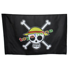 Bandera Pirata One Piece Luffy Cráneo Esqueleto Polo Estilo Anime Cosplay