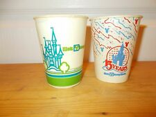 2 WALT DISNEY WORLD Cups from 1984 & 1986 Mint Condition!!