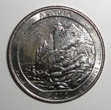 2012 US Quarter, 25 cents, National Parks, Acadia, Maine coin