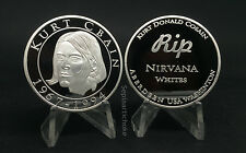 Kurt Cobain NIRVANA RIP Commemorative Silver Coin 1967 1994 Rare Edition Mint
