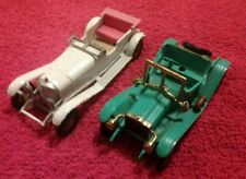 2 Lesney Matchbox Cars Models of Yesteryear 1911 Maxwell Roadster 1928 Mercedes