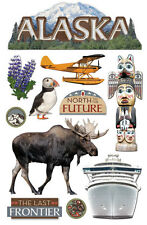 PAPER HOUSE ALASKA TRAVEL VACATION CRUISE DIMENSIONAL 3D SCRAPBOOK STICKERS