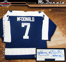 LANNY McDONALD Signed Blue CCM Vintage Jersey - Toronto Maple Leafs