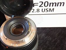 CANON EF 20mm f/2.8 US Ultrasonic CAMERA LENS BOXED with Disc + Instructions