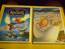 (2) Disney The Rescuers & Down Under DVD Lot: Both Movies  Gold Collection!!
