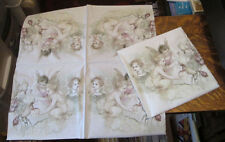 5 NEW GERMAN VICTORIAN FAIRIES CHERUBS CUPID FLOWER ART DECOUPAGE PAPER NAPKINS