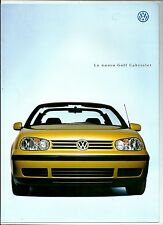 1998 VOLKSWAGEN GOLF CABRIOLET brochure TRENDLINE - HIGHLINE - COLOUR CONCEPT
