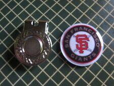 GOLF / San Francisco Giants Logo Golf Ball Marker/with Magnet Hat Clip New!!