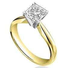 1ct Princess Cut Diamond 18ct Gold Solitaire Engagement Ring Fully UK Hallmarked